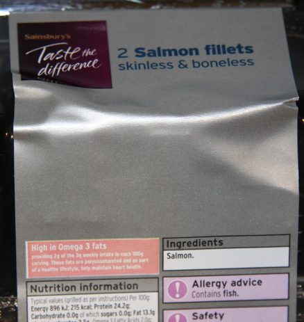 Allergy Advice: Contains Fish